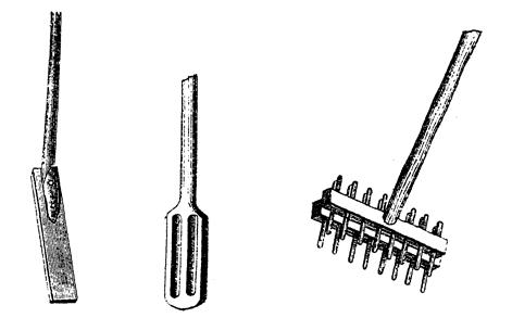 Деревянные мешалки различных форм
